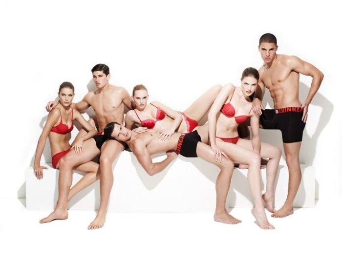 Ryan Bertroche, David Vega & Diego Miguel by Christopher Katke for CK Underwear Holiday 2010 Campaign