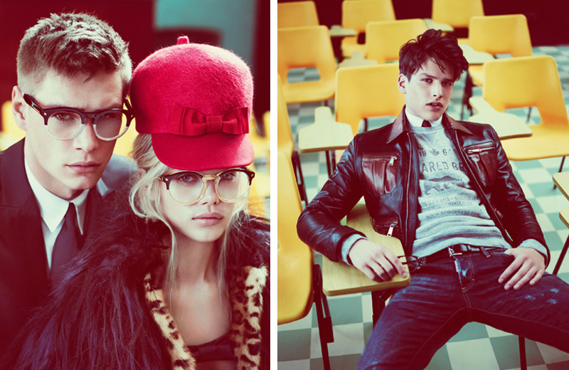 School's in Session for Dsquared²'s Fall/Winter 2012 Campaign by Mert & Marcus