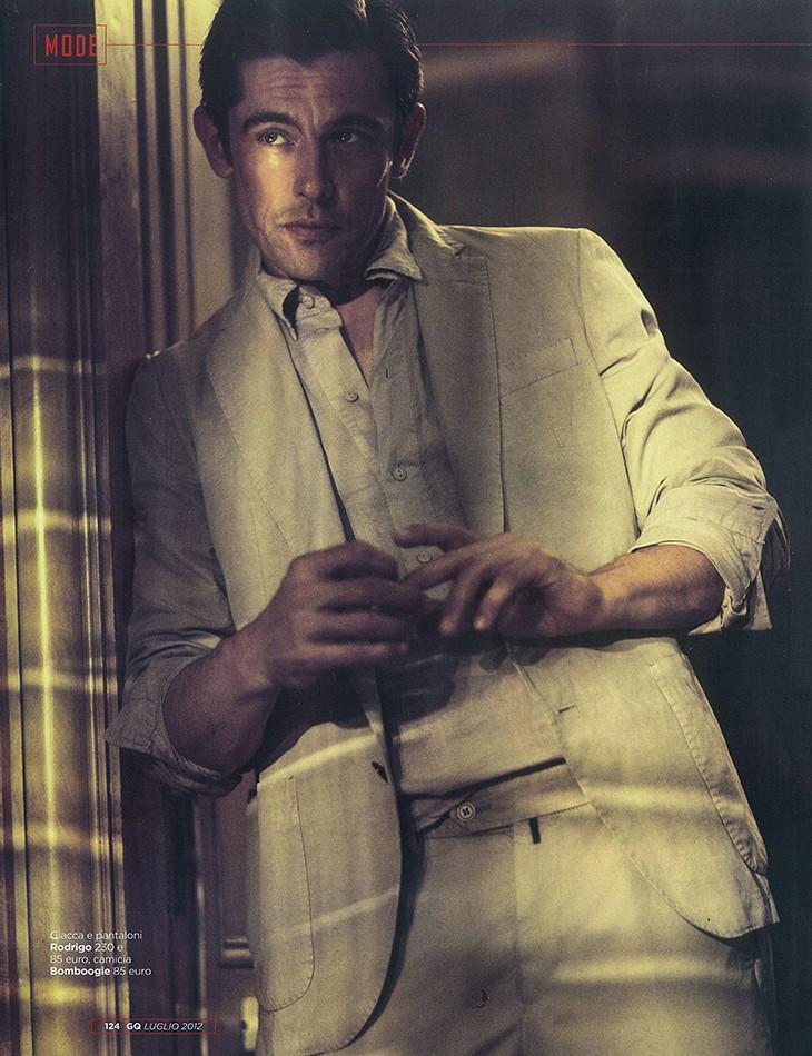 Werner Schreyer Wears Neutral Shades for GQ Italia's July 2012 Issue