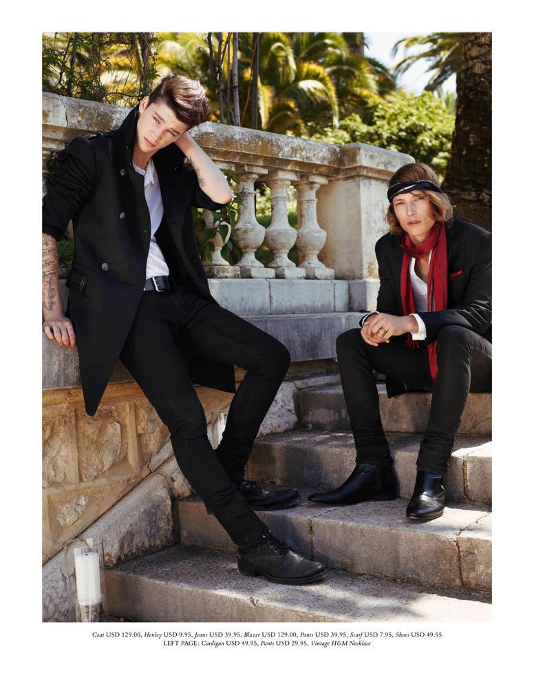 Ash Stymest, Christian Brylle & Nick Rea by Richard Bush for H&M Magazine Winter 2010