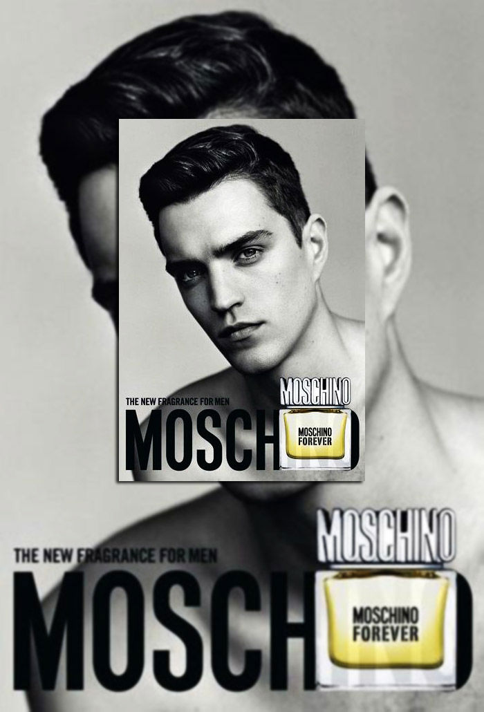 Josh Beech by Alasdair McLellan for Moschino Forever Campaign