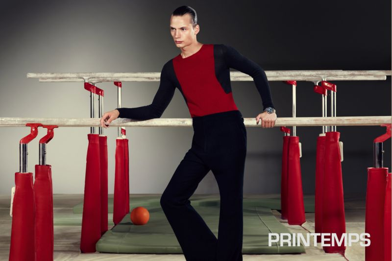 Nicolas Valois Captures the Elegance of Sports with Linus Gustin for Printemps Paris' Photo Exhibition