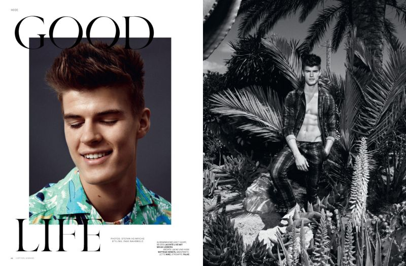 Matt Woodhouse Lounges in Prints for L'Officiel Hommes Germany