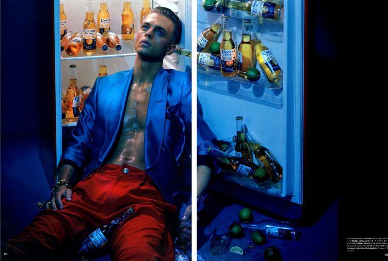 Benjamin Eidem by Miles Aldridge for Vogue Hommes Japan