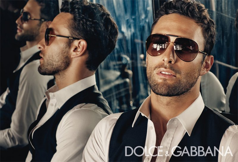 Noah Mills by Steven Klein for Dolce & Gabbana Eyewear Campaign