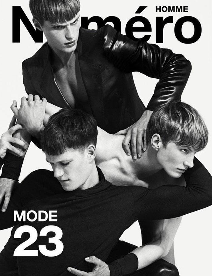 Adrien Brunier, Florian Van Bael & Joachim Clausen by Matthew Brookes for Numéro Homme