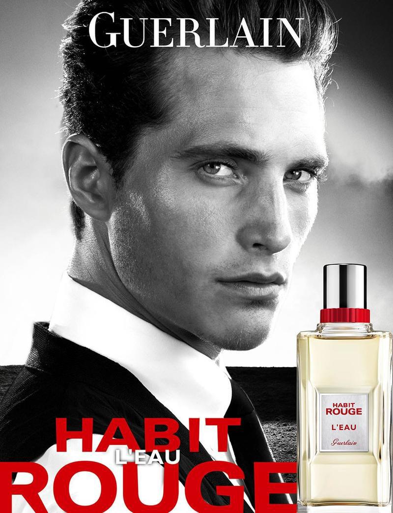 Ollie Edwards by Steven Klein for Guerlain Habit Rouge L'Eau Fragrance Campaign