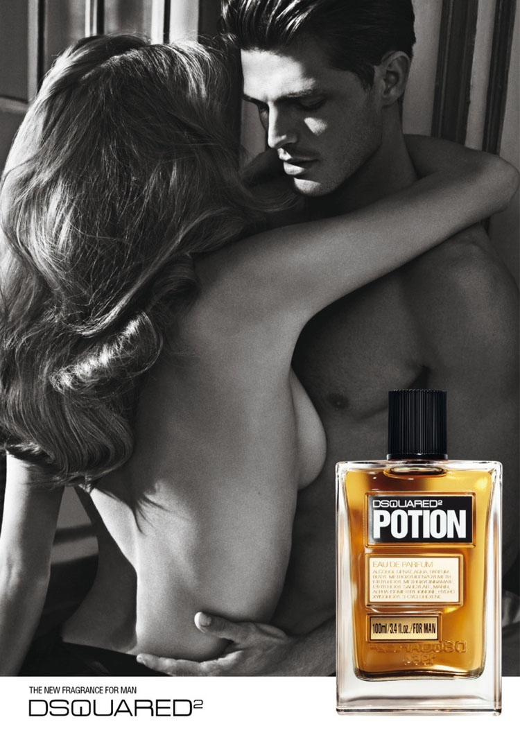 Diego Miguel Evokes Carnal Desires for Dsquared²'s 'Potion' Fragrance Campaign by Mario Sorrenti