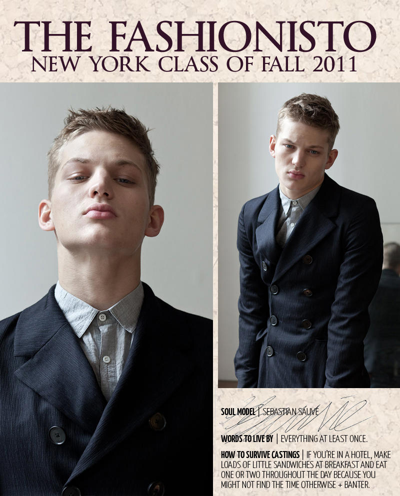 New York Class of Fall 2011 | Sebastian Sauvé by Steven Chu