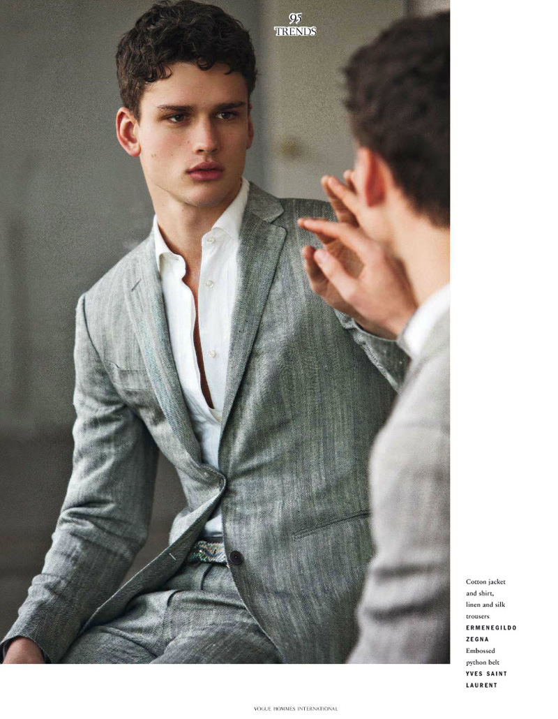 Simon Nessman by David Armstrong for Vogue Hommes International