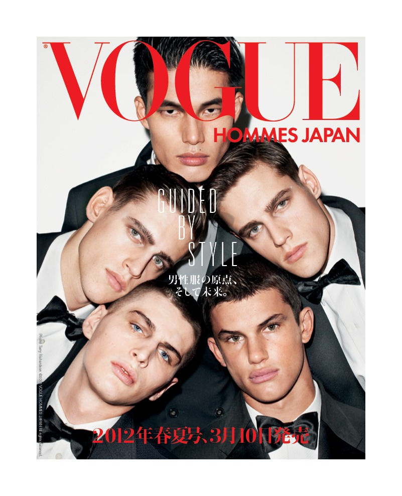Dae Na, Justin Halley, Allen Taylor, Jordan & Zac Stenmark by Terry Richardson for Vogue Hommes Japan