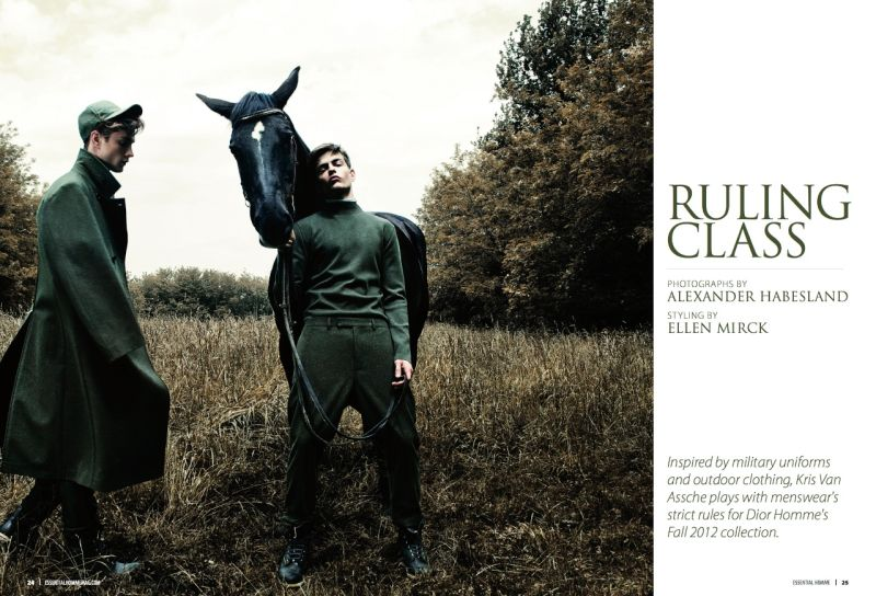 Pawel Bednarek & Theo Hall in Dior Homme Fall/Winter 2012 for Essential Homme