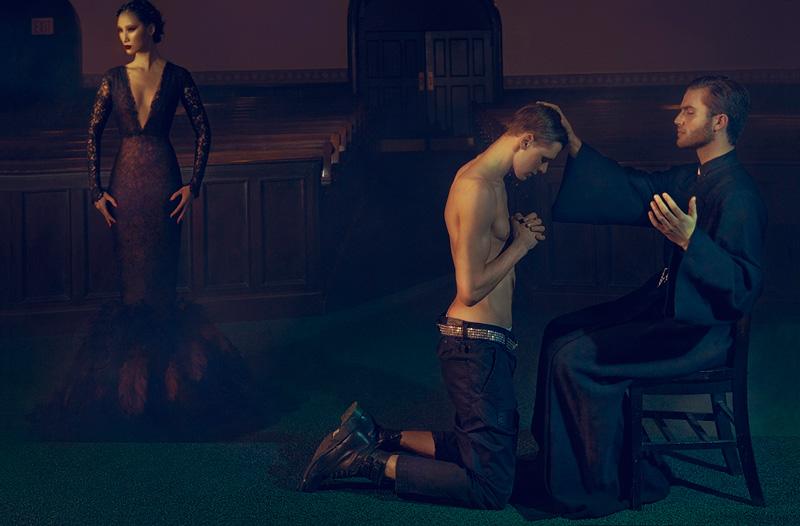 Stan Jouk, Huyen Trang & Sean Thompson are '3' for Faint Magazine by An Le