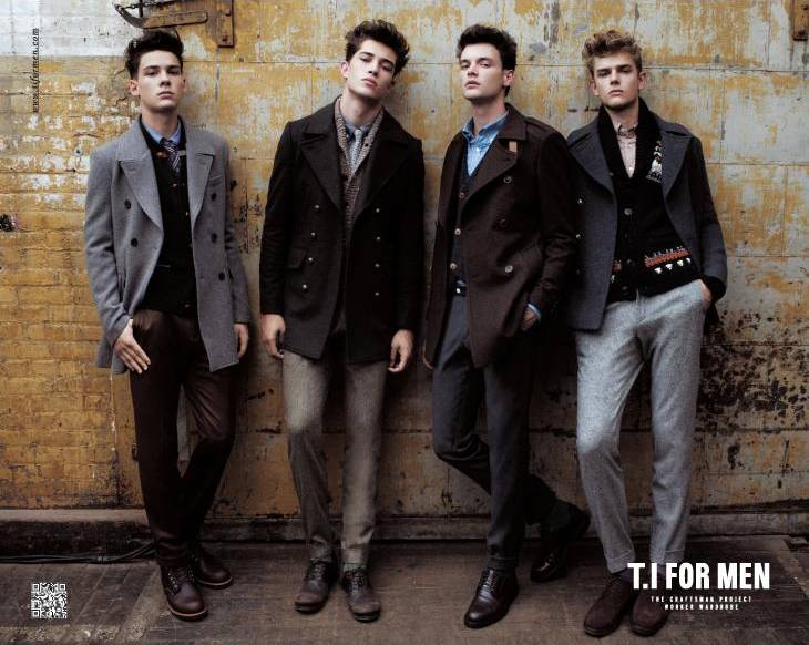 Francisco Lachowski, Jason Wilder, Mateus Lages & Taras Koltun for T.I for Men Fall/Winter 2011