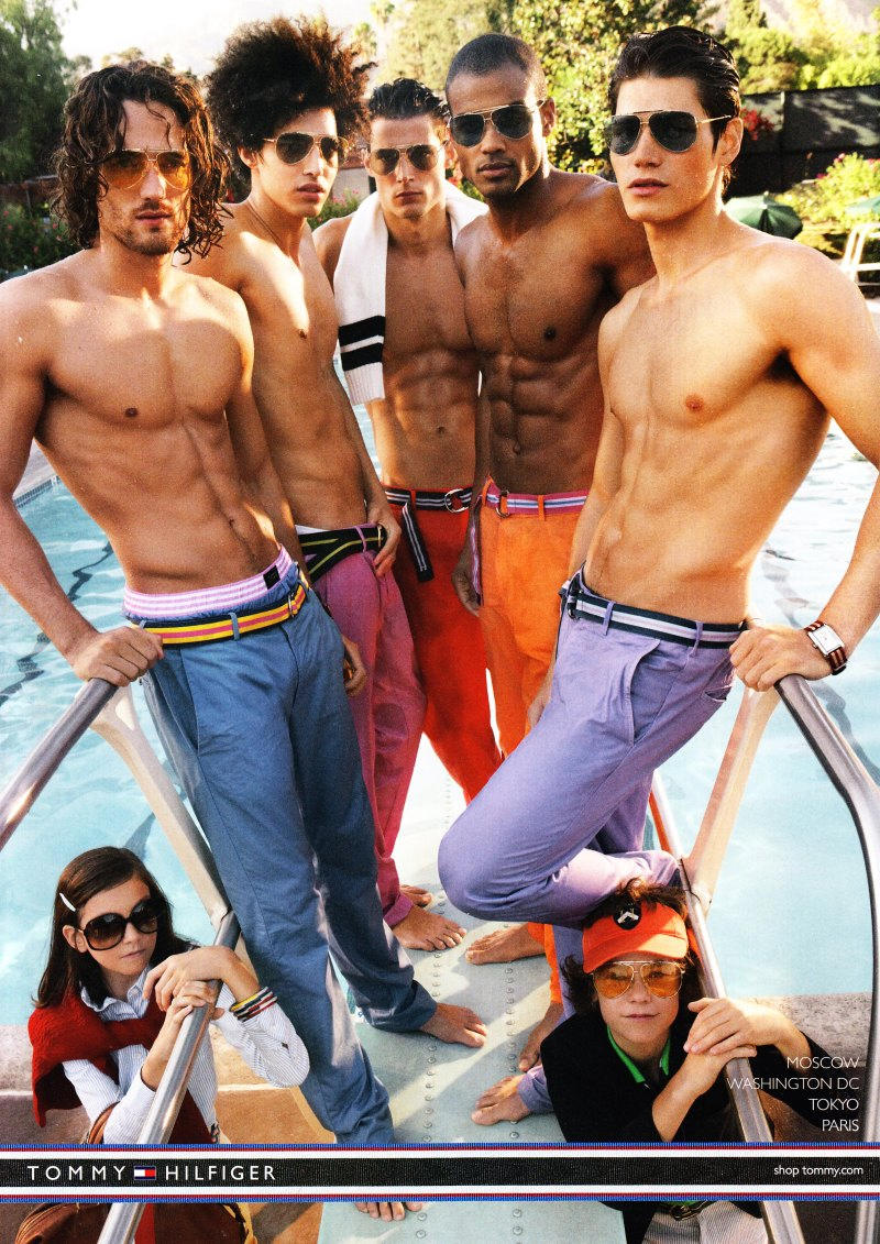 Max Rogers, Luis Borges, Danny Schwarz, Andre Douglas & Sam Way by Craig McDean for Tommy Hilfiger Spring 2011 Campaign