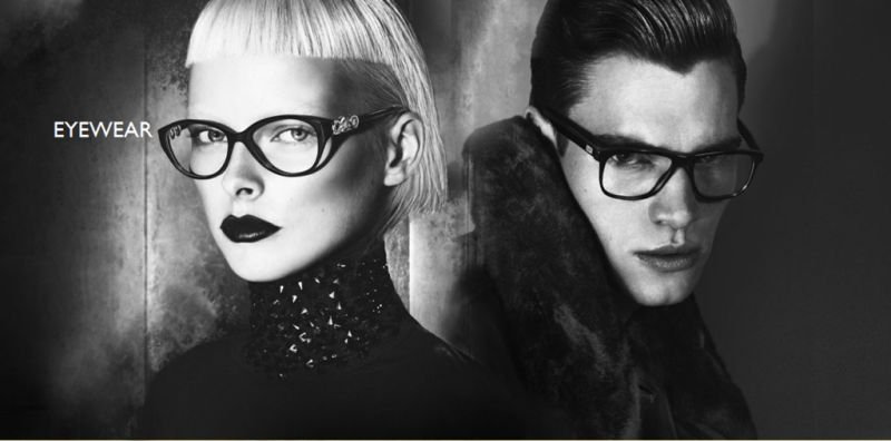 Philipp Schmidt & Kacey Carrig Strike a Pose for Versace Fall/Winter 2012 Campaign