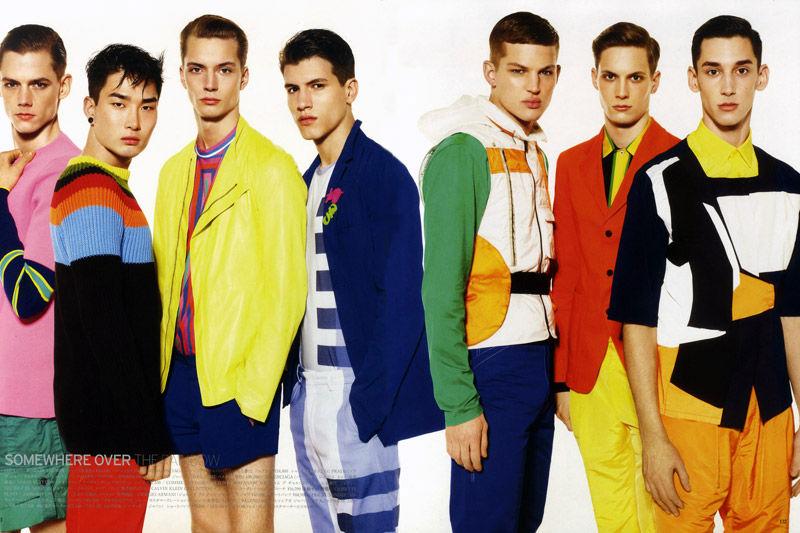 Felix Gesnouin, Adrian Cardoso & Johannes Niermann by Miguel Reveriego for Vogue Hommes Japan