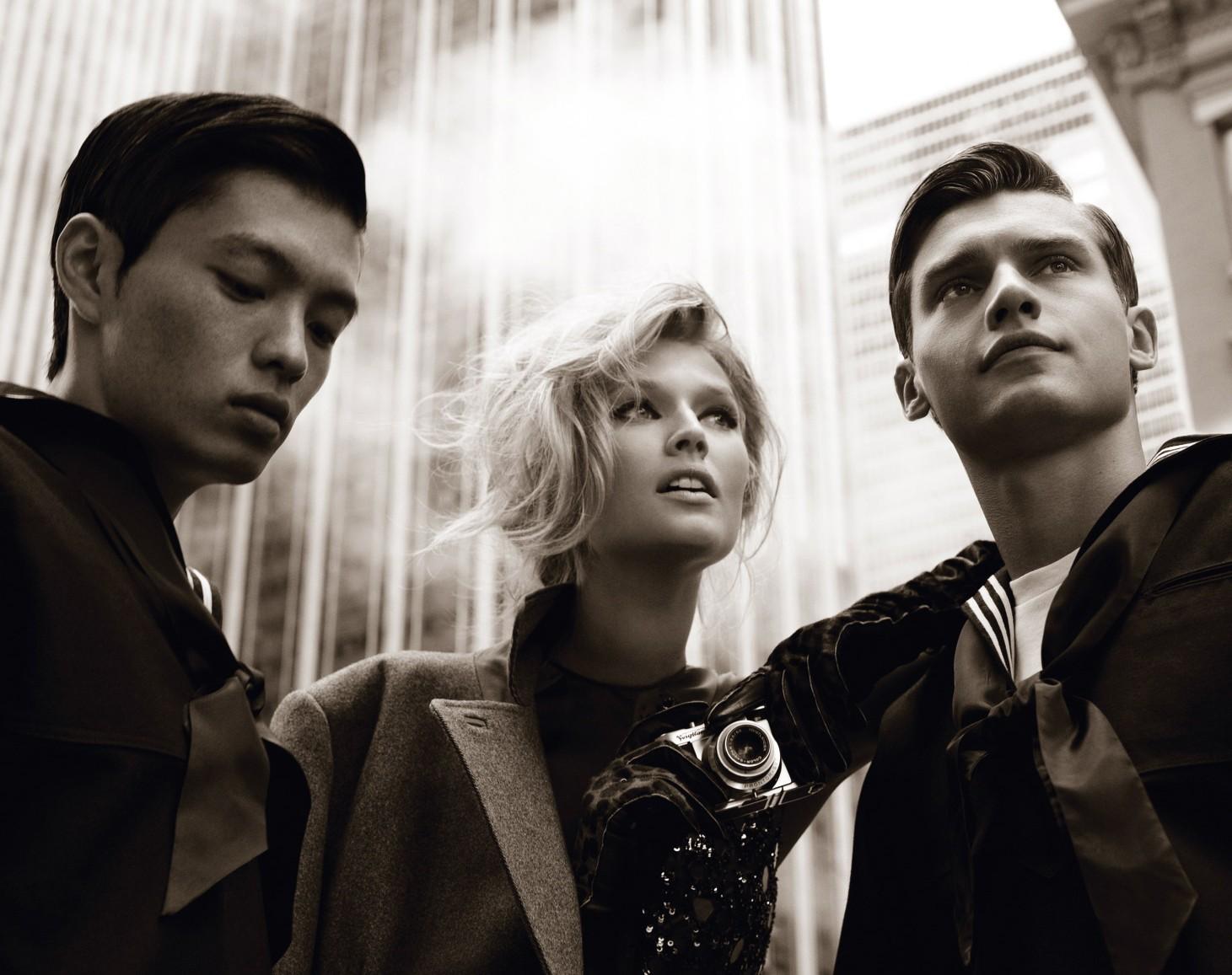 Vladimir Ivanov & Satoshi Toda are Sailors for German Vogue