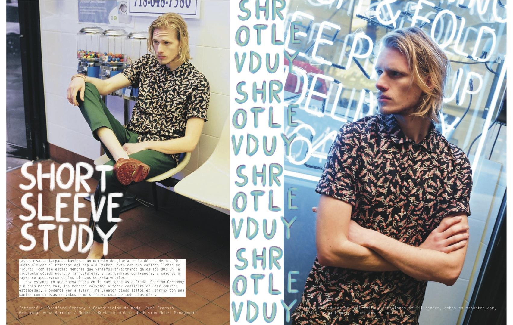 Berthold Rothas Dons Short-Sleeve Shirts for Nylon Guys Mexico