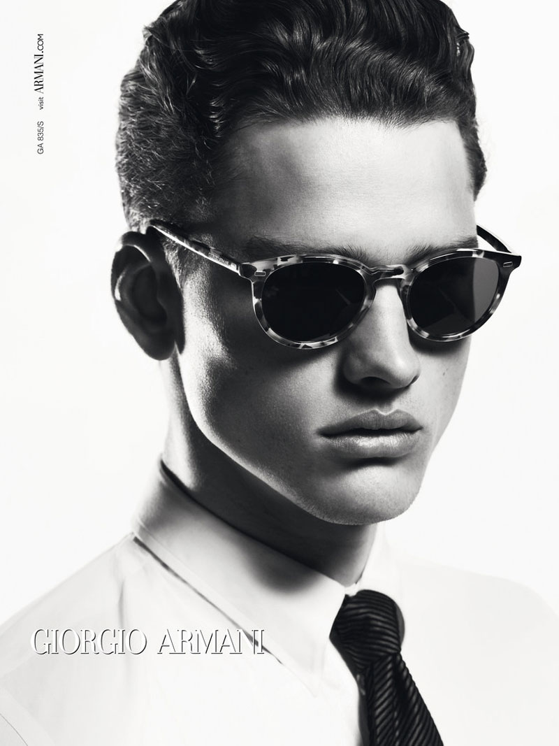 Simon Nessman has a Sharper Image for Giorgio Armani Fall/Winter 2012 Eyewear Campaign