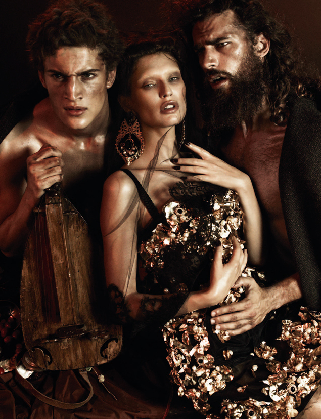 Sam Webb, Aiden Brady, Chris Petersen & Others Don Dolce & Gabbana's Baroque Opulence for German Interview