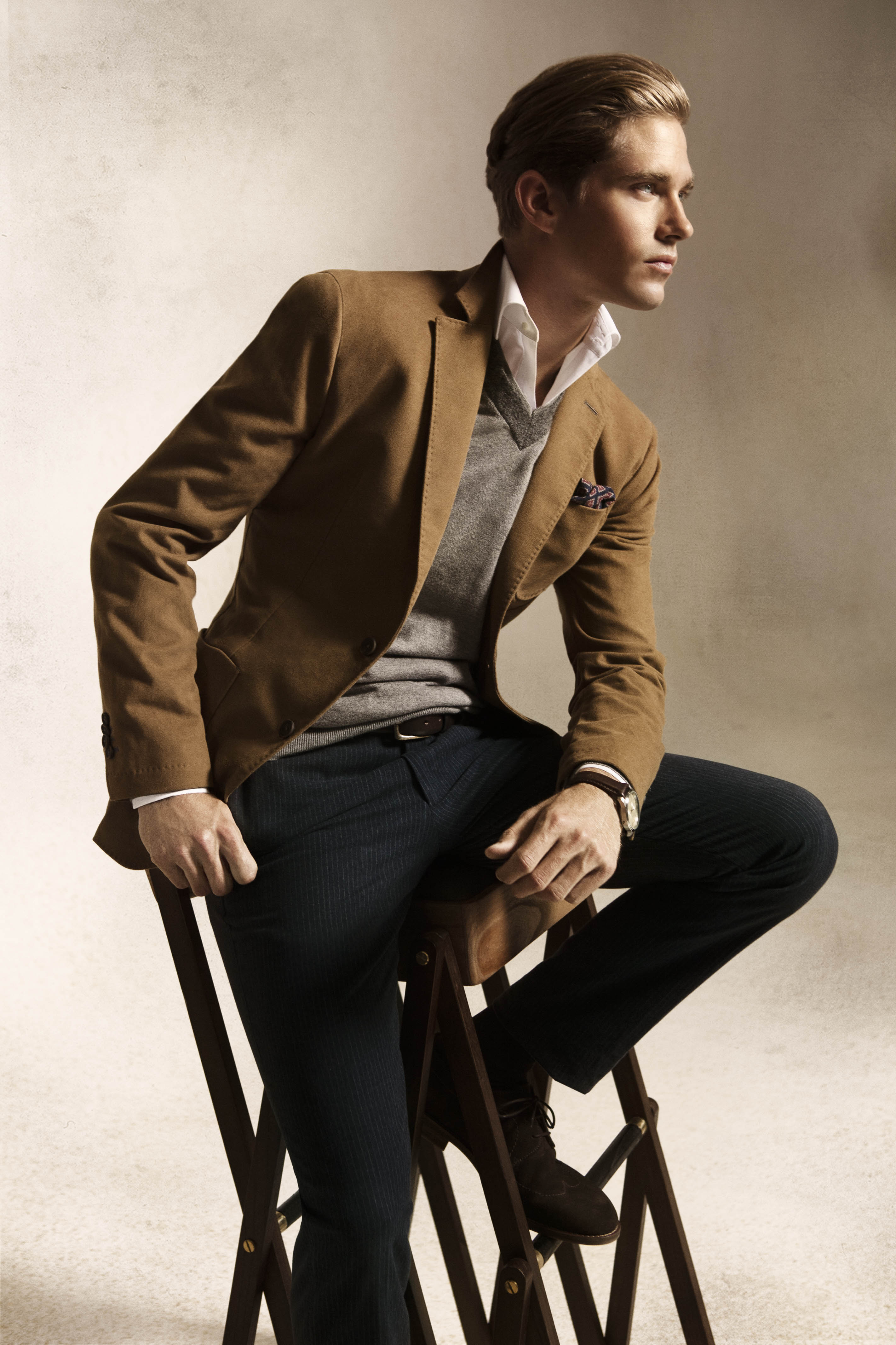 Massimo Dutti's September 2012 Lookbook Features a Sharply Dressed Travis Davenport