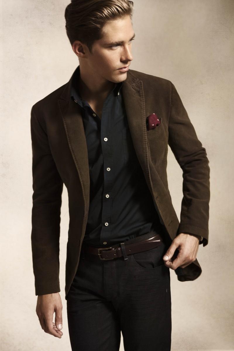 Massimo Dutti's September 2012 Lookbook Features a Sharply Dressed Travis Davenport
