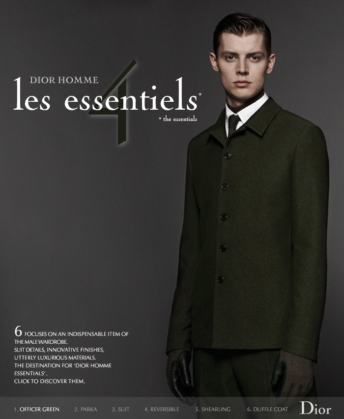 Janis Ancens Stuns in Military Green for Dior Homme Les Essentiels #4