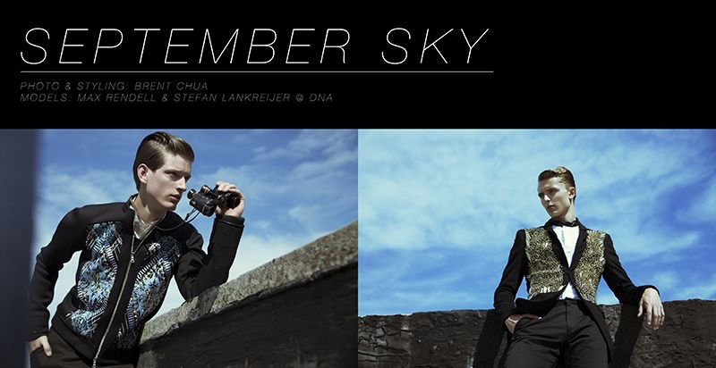 Max Rendell & Stefan Lankreijer in 'September Sky' by Brent Chua for Fashionisto Exclusive