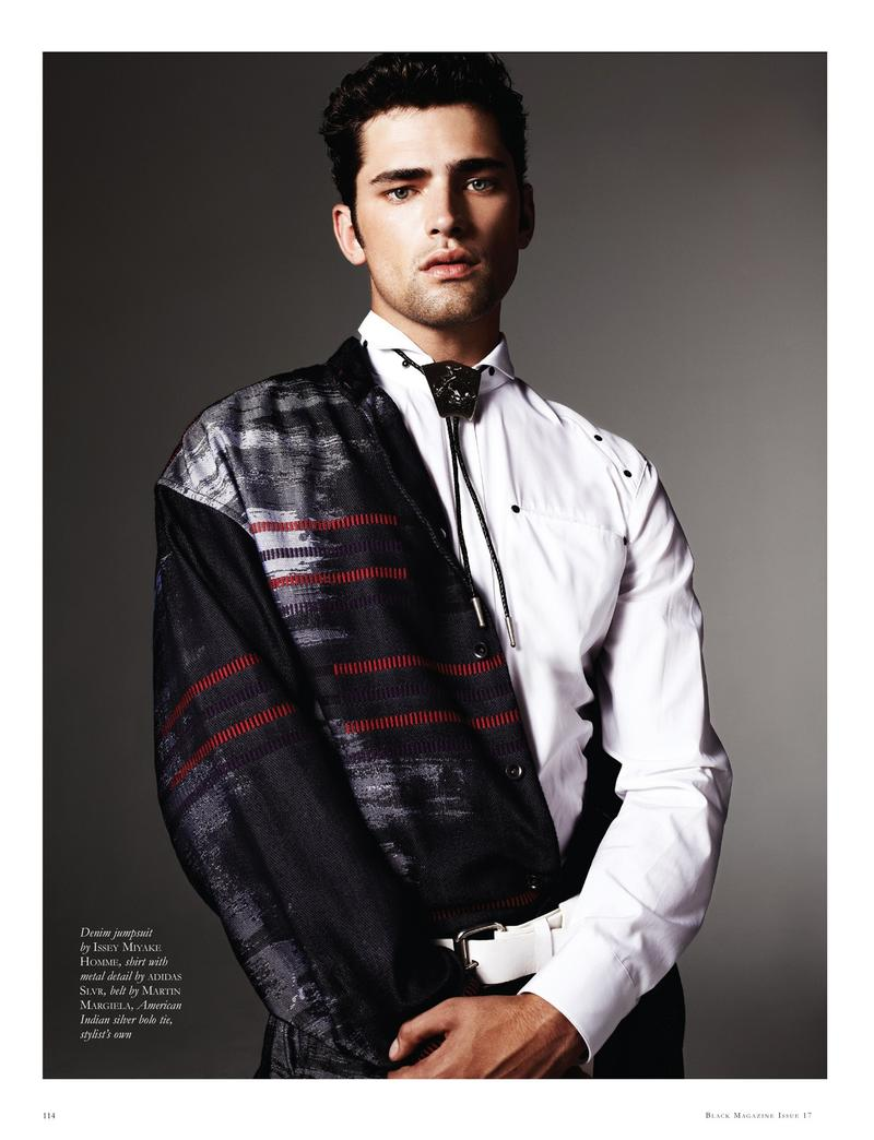 Sean O'Pry has a Bling Moment for Black Magazine
