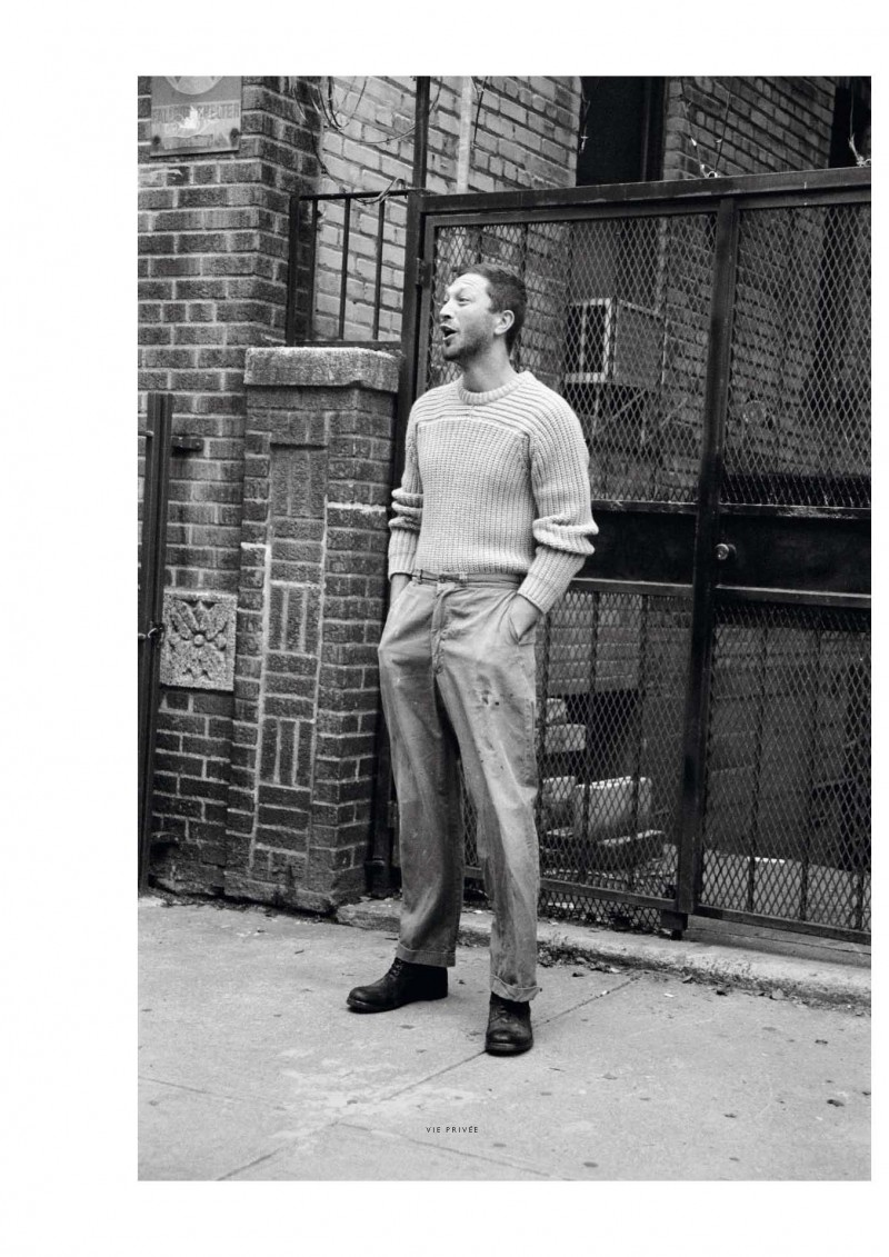 Actor Ebon Moss-Bachrach Roams the Streets for Vogue Hommes International
