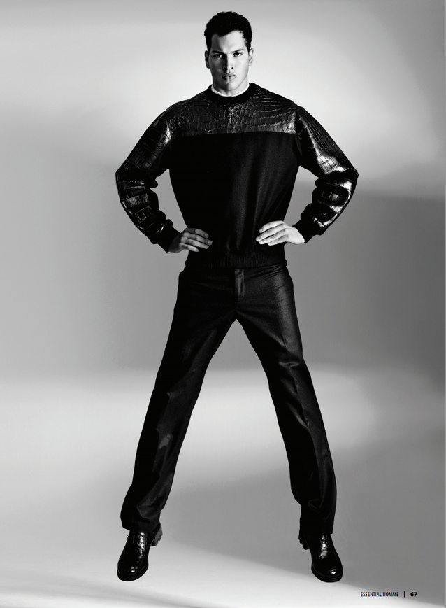 Chris Moore, Travis Bland, Mark & Jon Norris Don Calvin Klein for Essential Homme