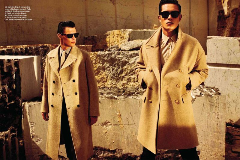 Francisco Lachowski & Adrian Wlodarski are Clad in Camel Hues for GQ España