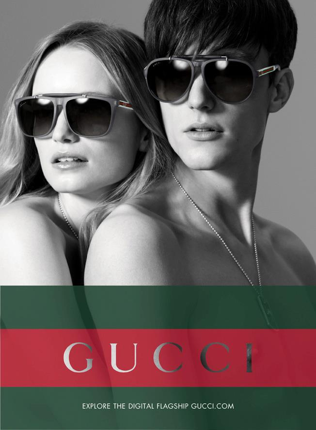 Charlie Timms has Sunglasses Fever for Gucci's Fall/Winter 2012 Eyewear Campaign