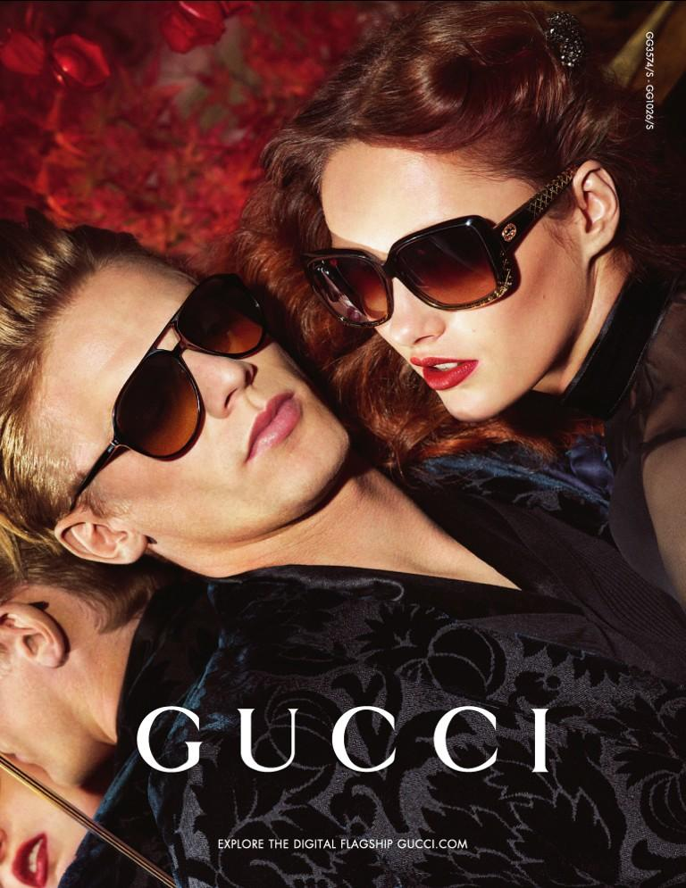 Lenz Von Johnston is a Luxurious Vision for Gucci's Fall/Winter 2012 Eyewear Campaign