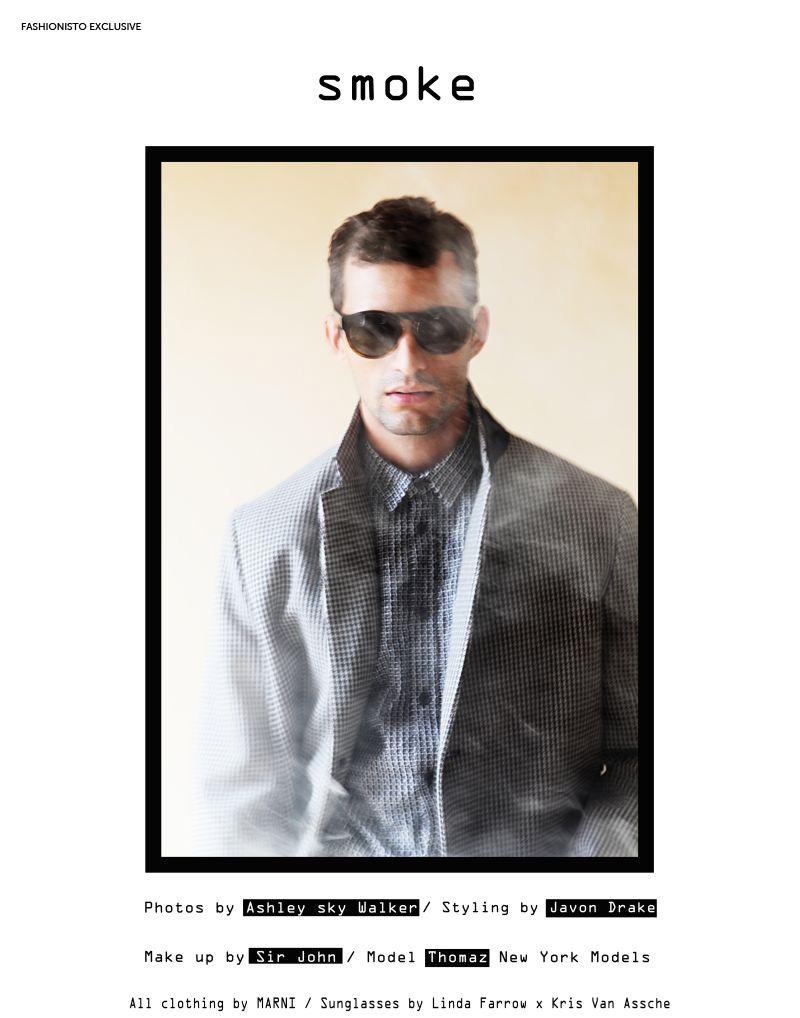Thomaz de Oliveira in 'Smoke' by Ashley Sky Walker for Fashionisto Exclusive