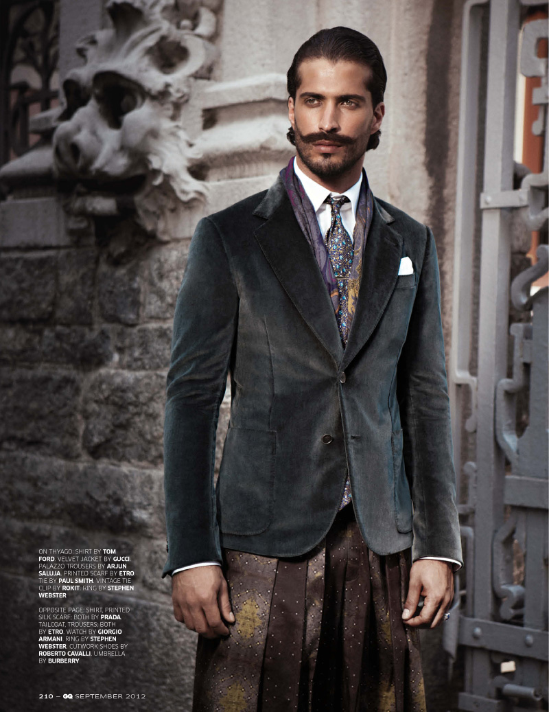 Thyago Alves is a Royal for GQ India's September Issue