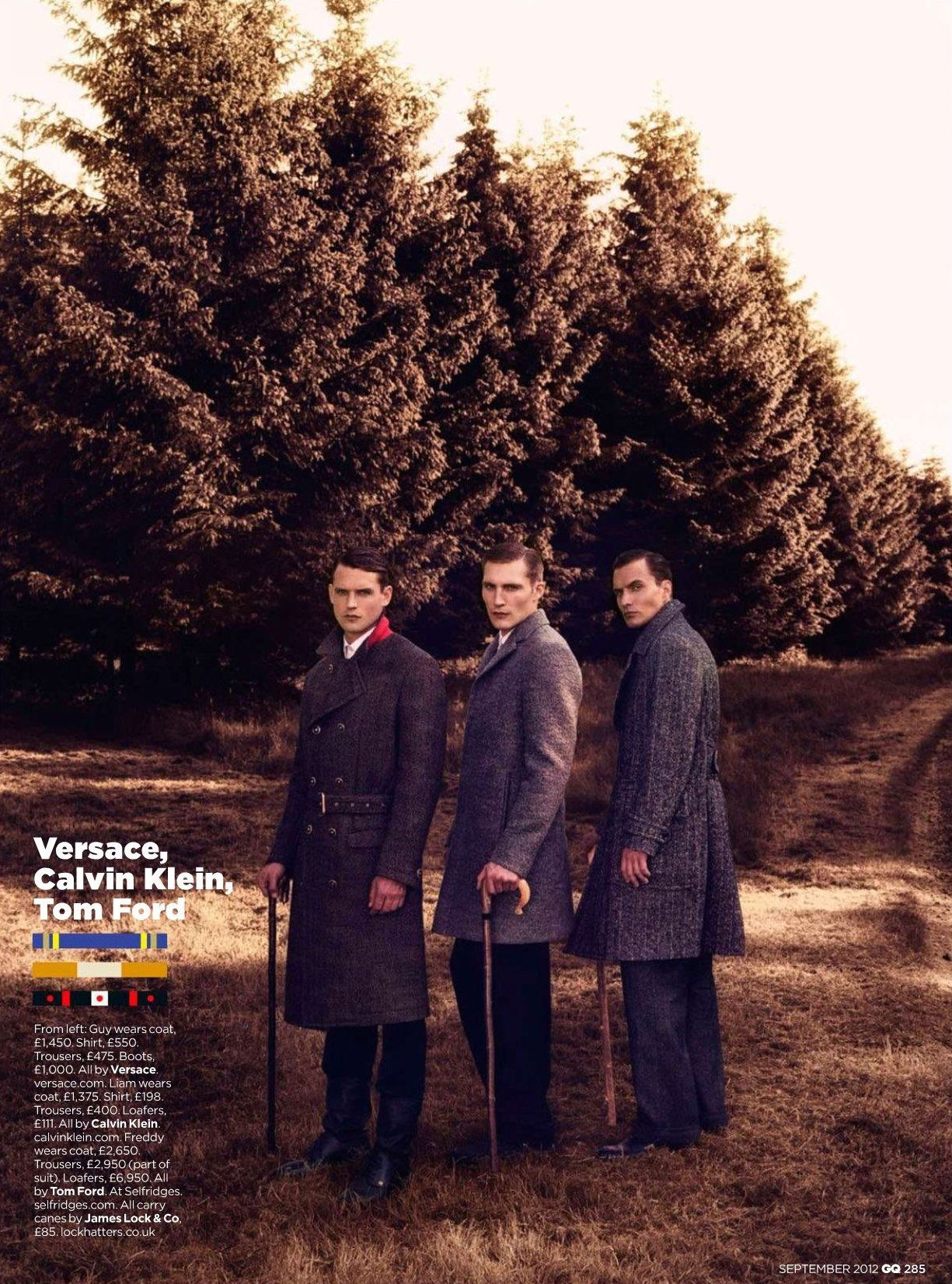 Guy Robinson, Nick Wilson, Fionn MacDiarmid & Others Model Fall/Winter 2012 Designs for British GQ