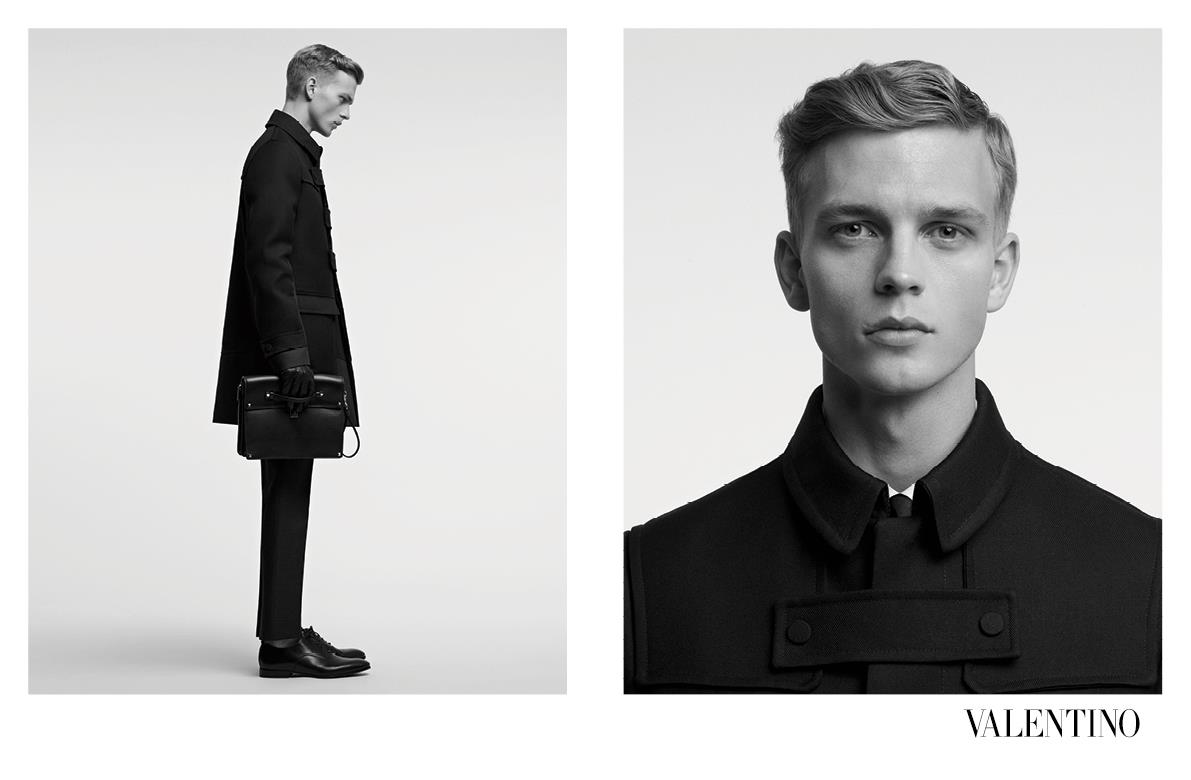 Benjamin Eidem Achieves a Perfect Fit for Valentino's Fall/Winter 2012 Campaign