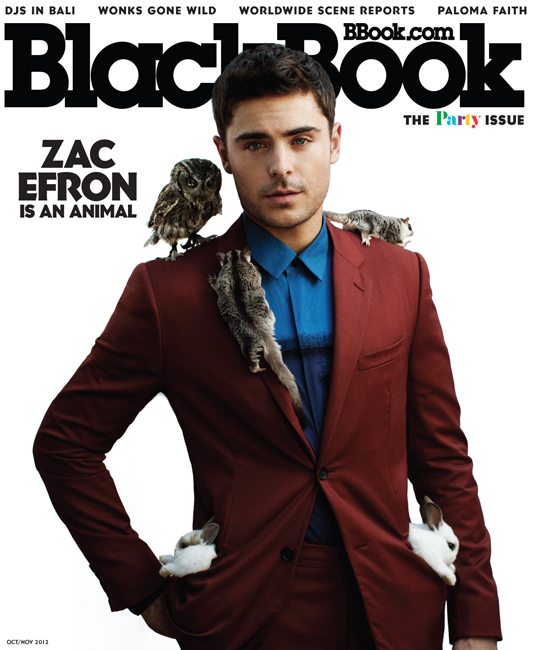 Zac Efron Gets in Touch with His Wild Side for Blackbook
