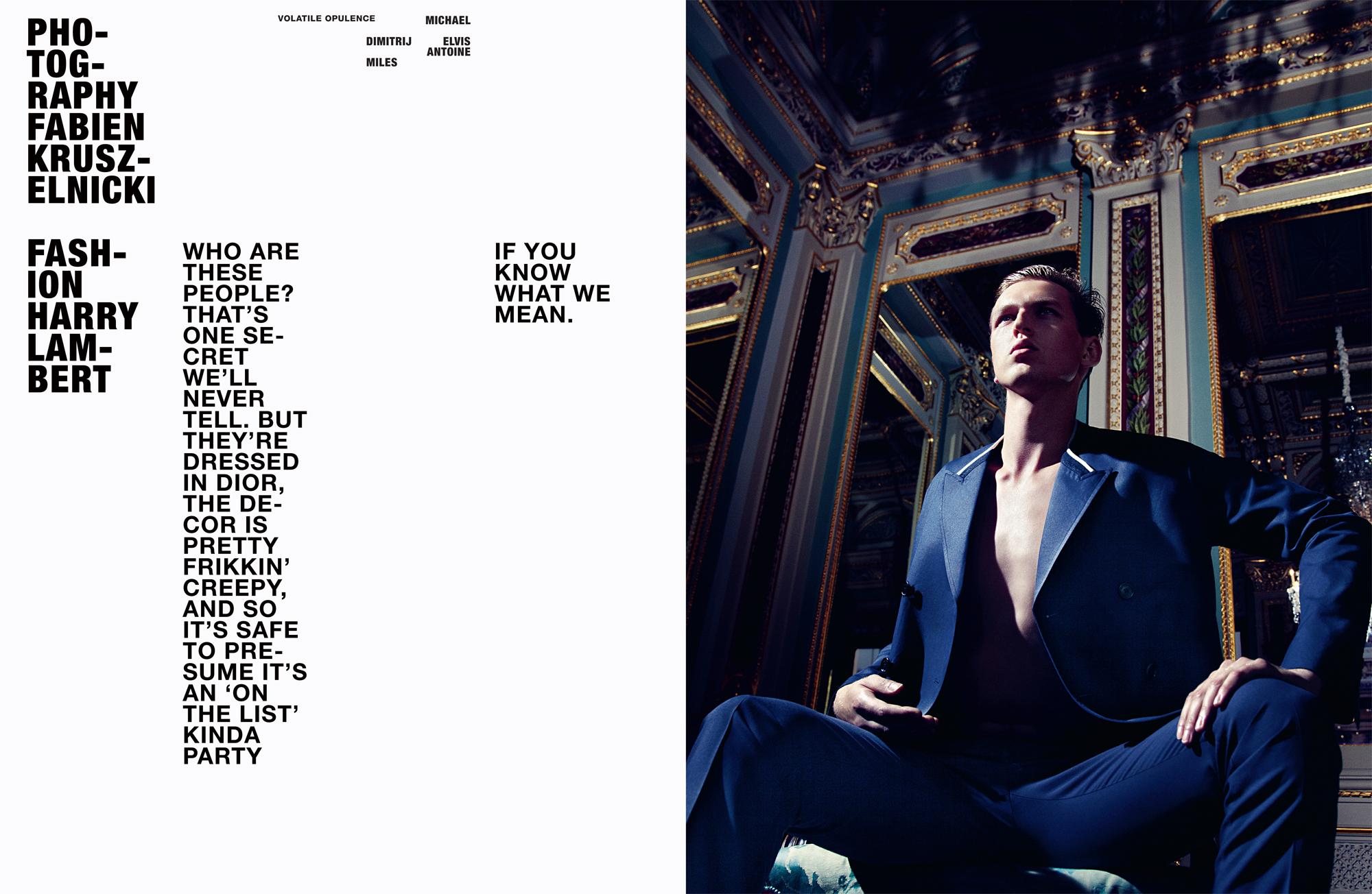 Michael, Dimitrij, Elvis, Antoine, & Miles Define Elegance in Dior Homme for Hero Magazine