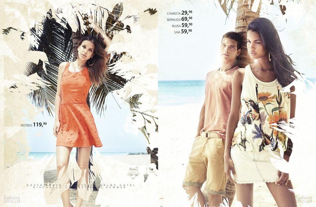 Alexandre Cunha & Mihaly Sepreny Martins Enjoy a Tropical Spring/Summer 2013 for Riachuelo