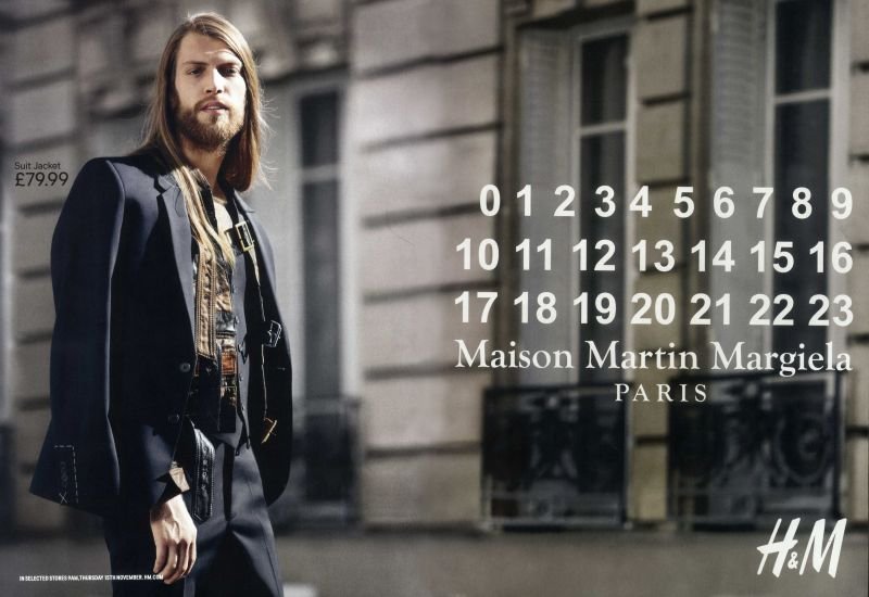 Andreas Carrere Steps Out for H&M x Maison Martin Margiela Campaign