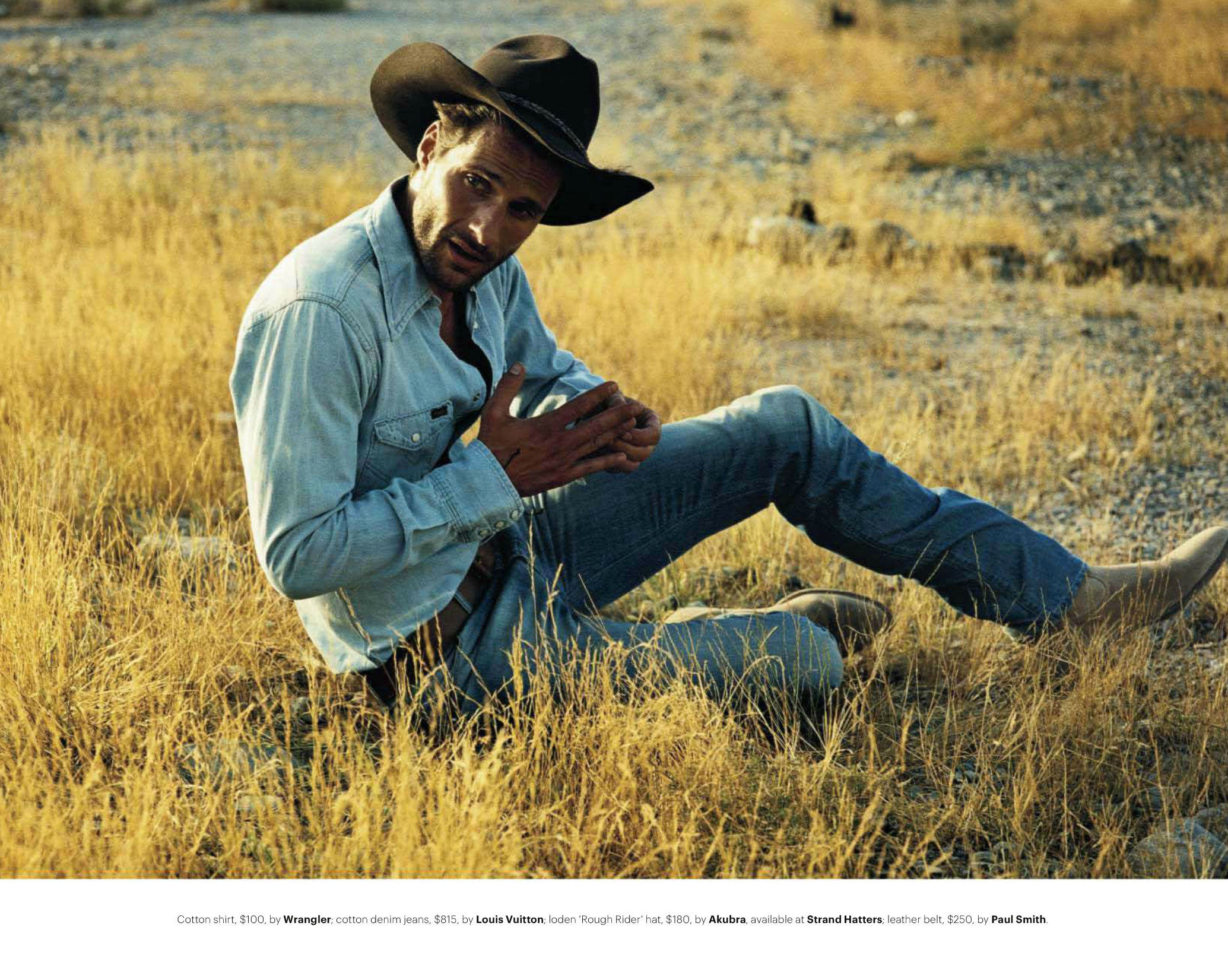Tommy Dunn Channels His Inner Cowboy for GQ Australia