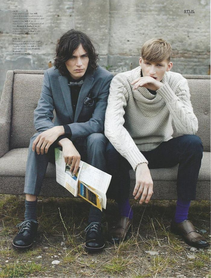 Jaco Van Den Hoven, Pascal Bonvie & Arthur are Unaffected Youth for Esquire