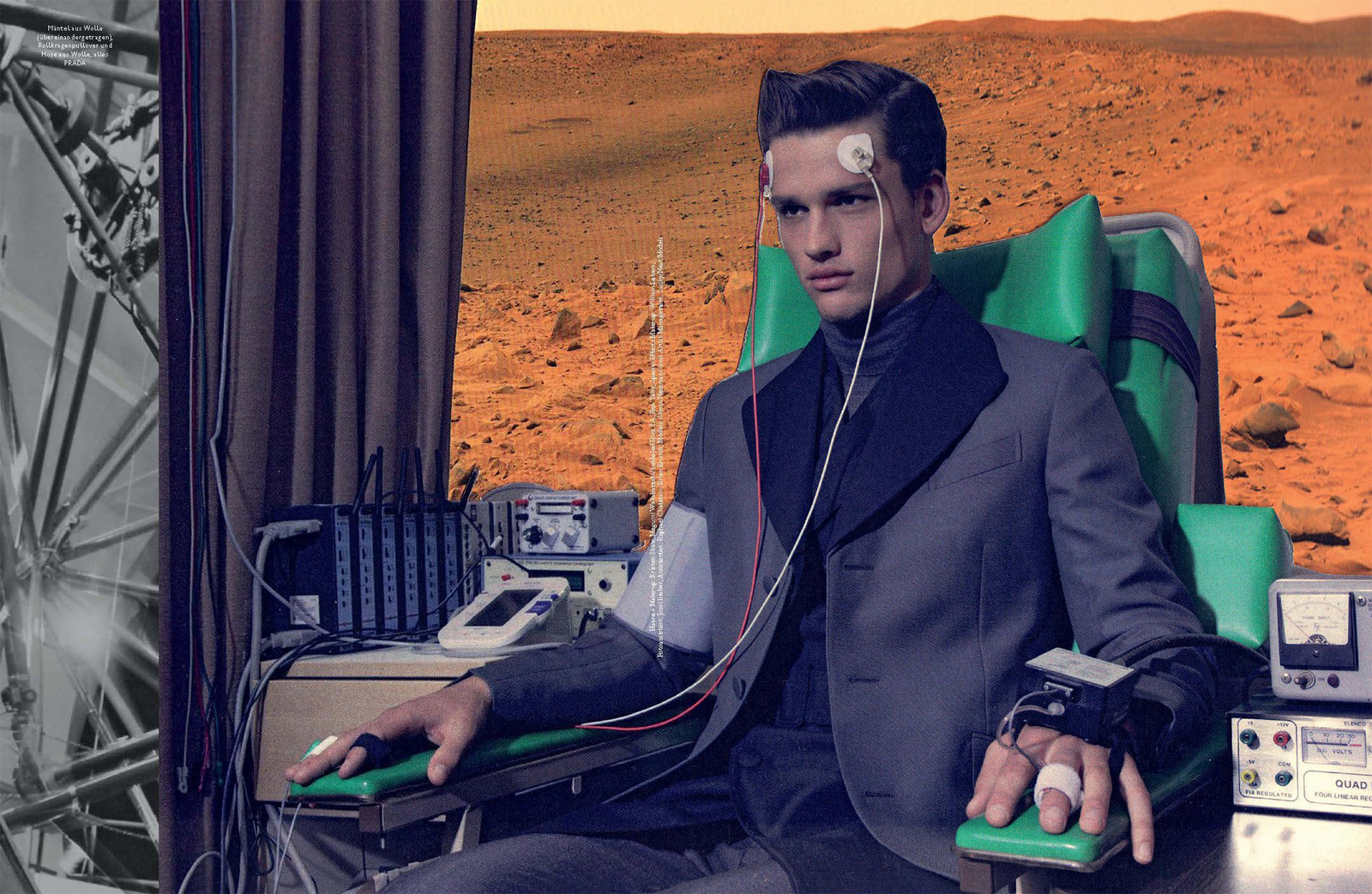 Simon Nessman is an Alien for GQ Style Germany