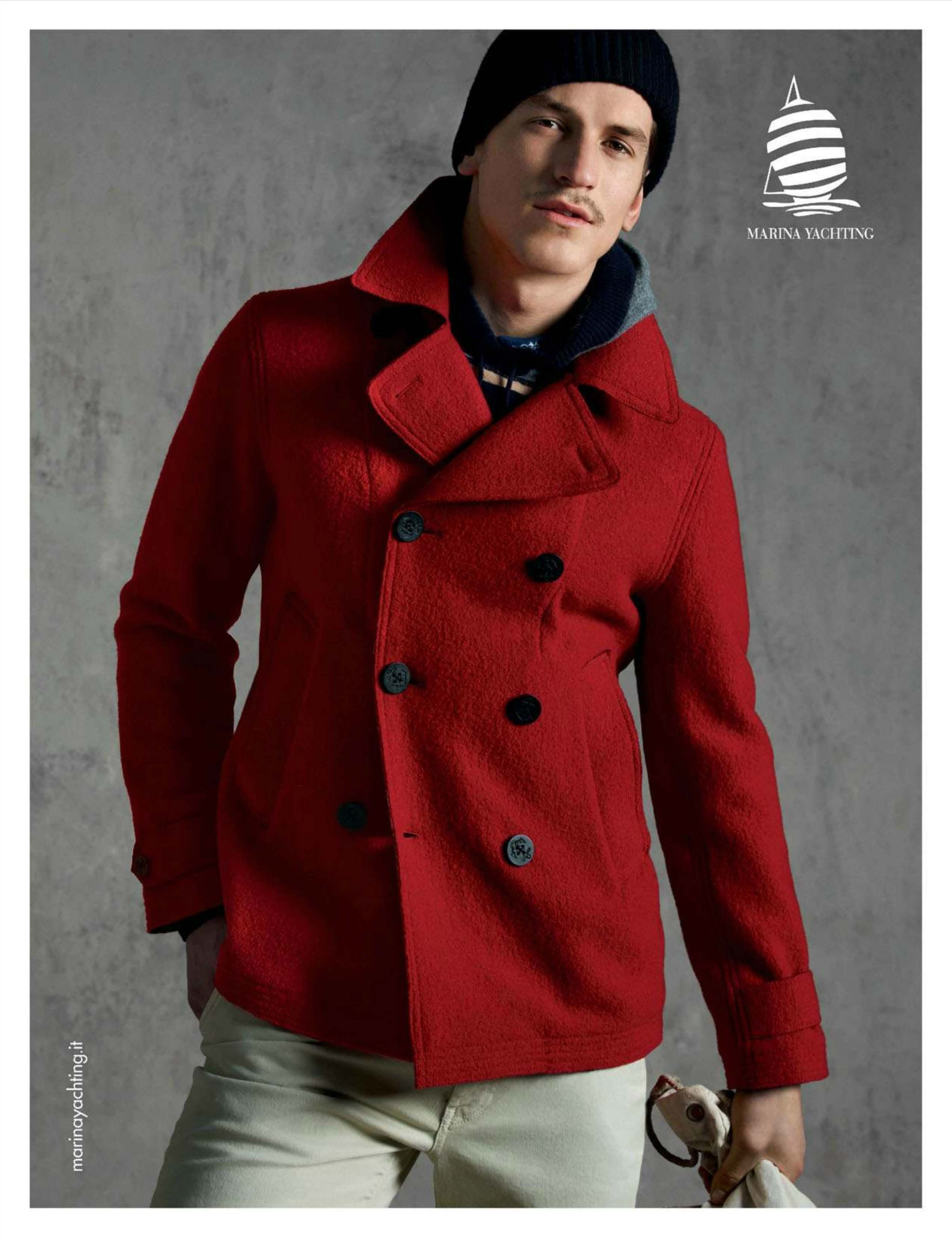 Jarrod Scott is Striking in Red for Marina Yachting Fall/Winter 2012 Campaign