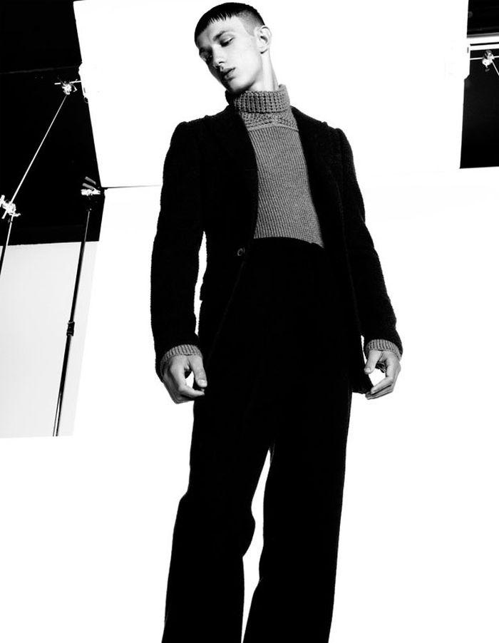Anders Hayward, Ben Allen & Mayrenne Herry Fit Lanvin's Silhouette for Bon Magazine