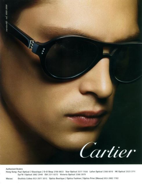 Mathias Lauridsen Dons Eyewear for Cartier 2012 Campaign