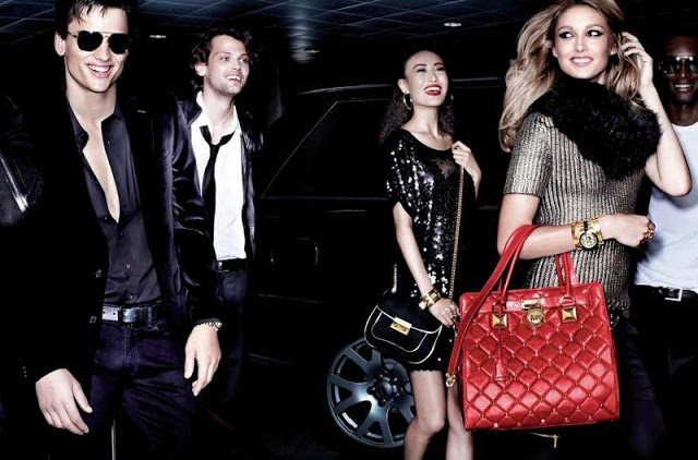 Simon Nessman, Taylor Fuchs & Corey Baptiste are in the Party Spirit for Michael Kors Holiday 2012 Campaign